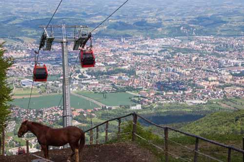 Ko se povzpnete na Mariborsko Pohorje je razgled na Maribor čudovit