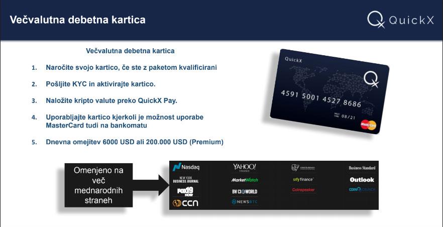 Mastercard debetna kartica za kriptovalute.